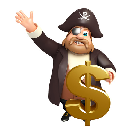 tricorne: Pirate with Dollar sign