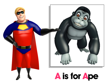 ape: Super hero pointing Ape
