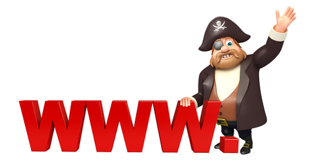tricorne: Pirate with WWW.sign