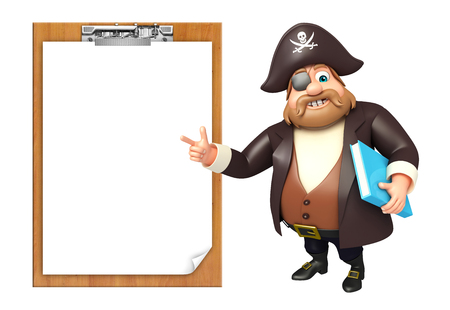 Pirate with Exam pad & book