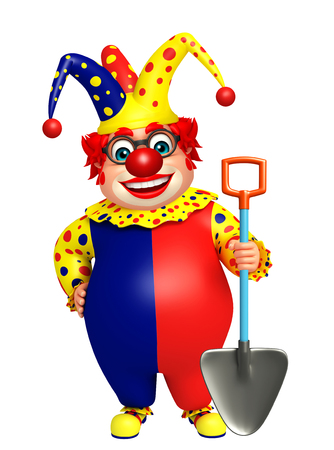 digging: Clown with Digging shovel