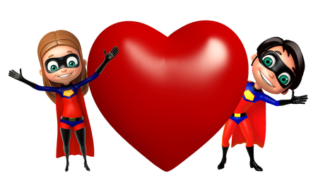 supergirl: superboy and supergirl with Heart