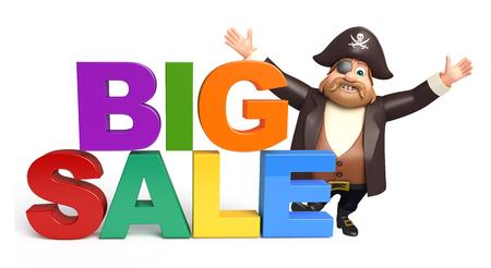 tricorne: Pirate with Big sale Stock Photo