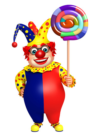 Clown with Lollypop