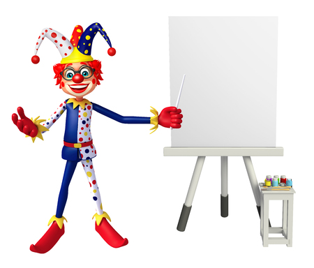 wig: Clown with Easel board
