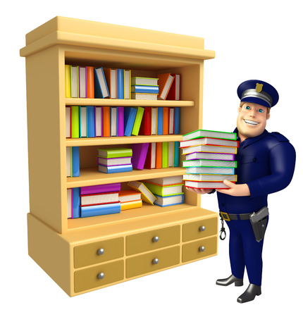 book shelves: Police with Book Shelves