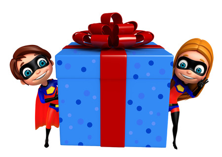supergirl: superboy and supergirl with Giftbox
