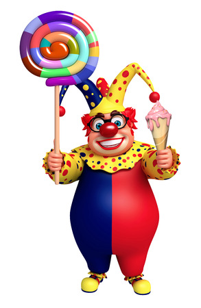 lollypop: Clown with Lollypop & Ice cream