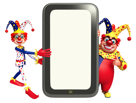 nariz roja: Clown with Mobile
