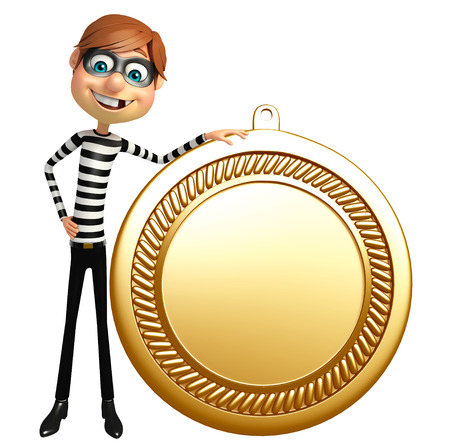 Thief with medal