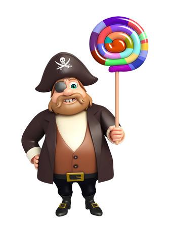 tricorne: Pirate with lollipop