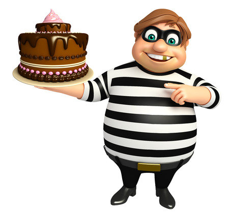 Thief with Cake