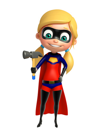 supergirl: supergirl with Hammer