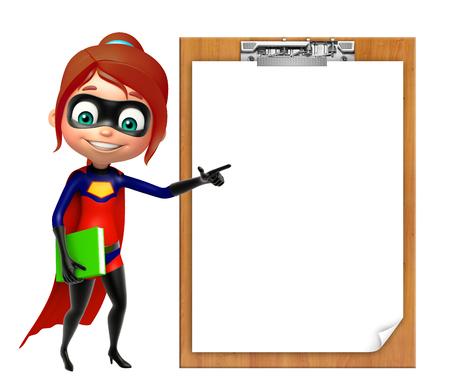 supergirl: supergirl with Exam pad