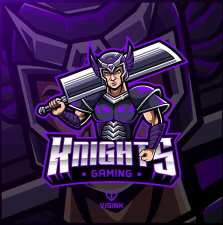 Knight sport mascot logo design