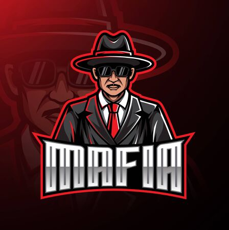 Mafia logo mascot gaming design