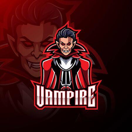 Vampire esport mascot logo design