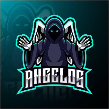 Création de logo de mascotte ange esport