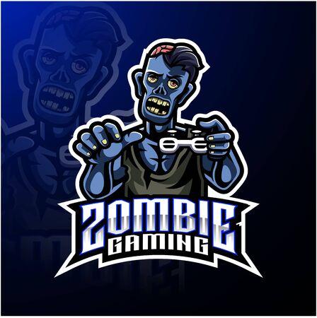 Zombie undead mascot logo design