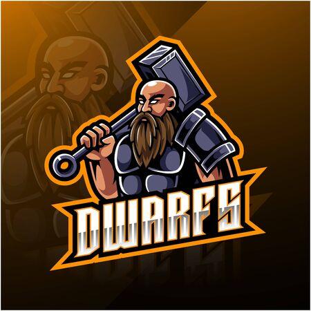 Dwarfs e sport logo design