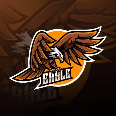 Disegno del logo della mascotte sportiva dell'aquila