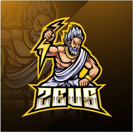 Zeus sport mascot logo design Archivio Fotografico - 130843512