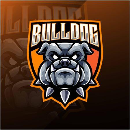Logotipo de la mascota de Bulldog Head esport