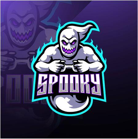 Diseño de logotipo de mascota spooky ghost esport