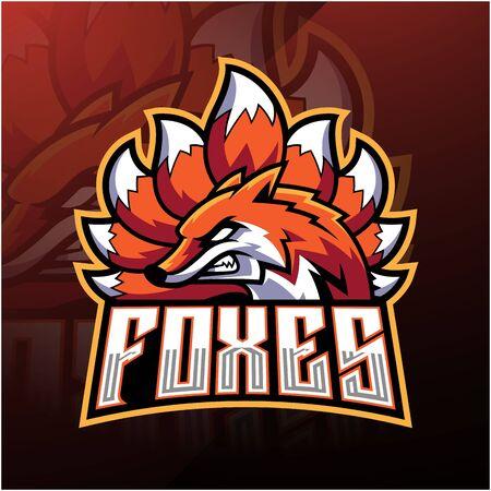 Foxes esport mascot logo design