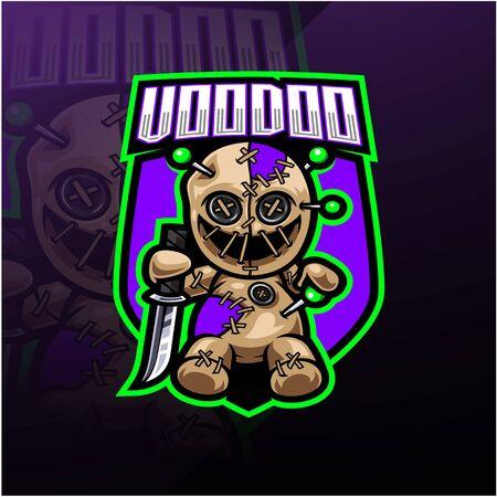 Voodoo esport mascot logo design