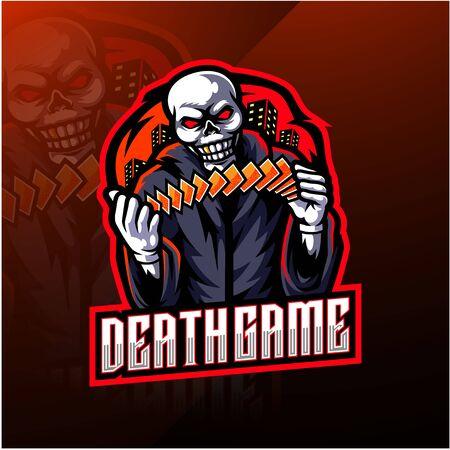 Skull gaming esport mascot logo