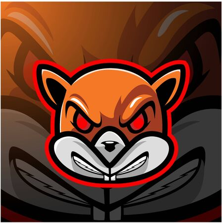 Squirrel head esport mascot logo Ilustracja