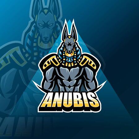 Anubis esport mascot logo design Stock Vector - 134856572