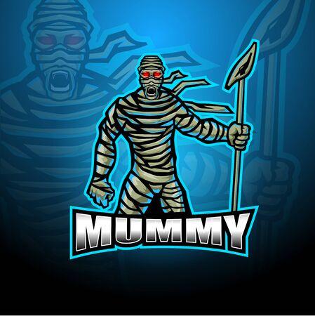 Mummy esport mascot design