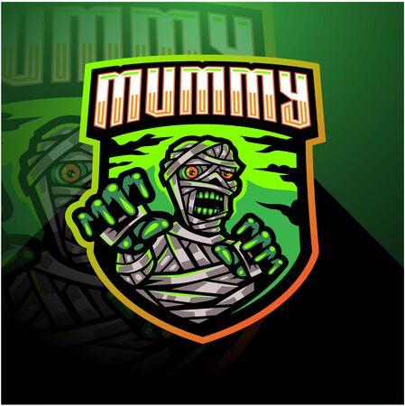 Mummy esport mascot logo design