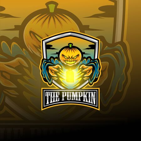 The pumpkin esport mascot logo