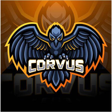 Raven sport mascot design