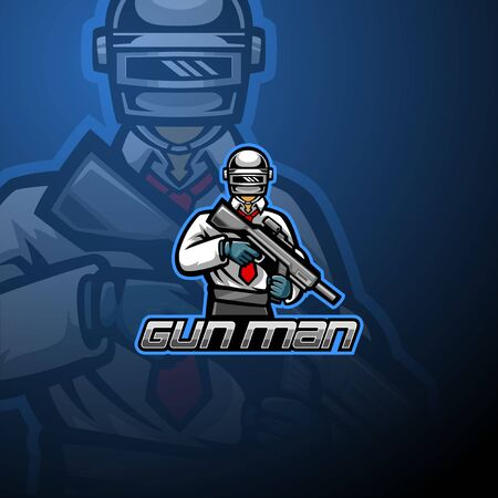 Gunner esport mascot design