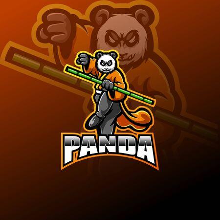 Panda esport mascot design