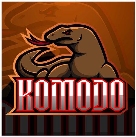 Komodo esport mascot design