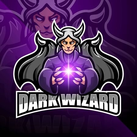 Dark wizard esport mascot design