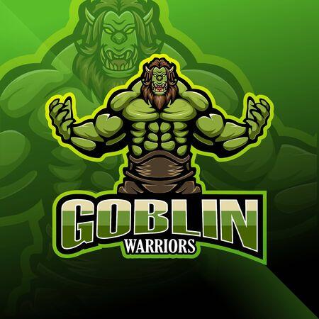 Goblin warrior esport mascot logo