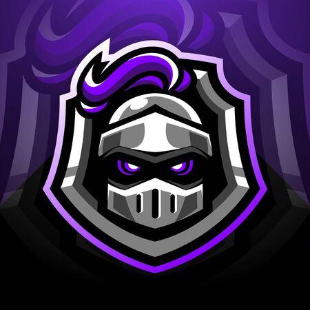 Guardian head esports mascot logo design 向量圖像