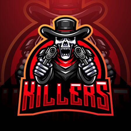 Skull gunners esport mascot