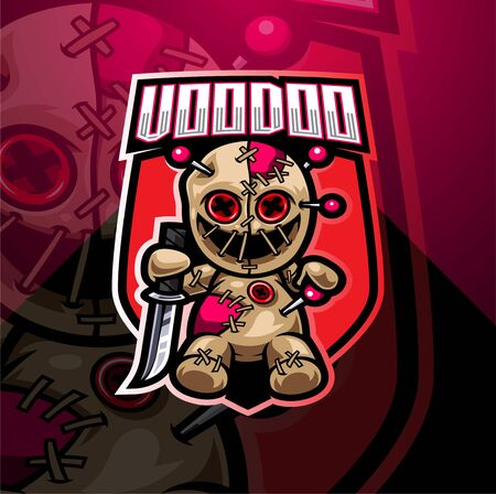 Voodoo esport mascot design