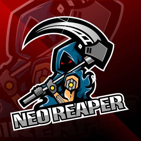 Neo reaper logo mascot design