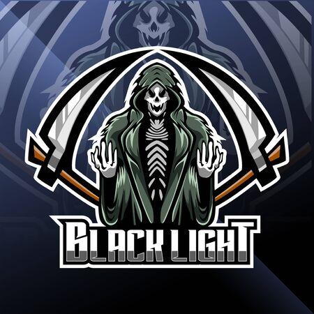 Skull reaper  mascot design Illustration