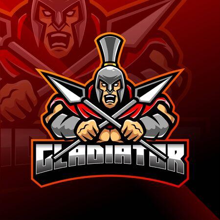 Gladiator esport mascot logo design