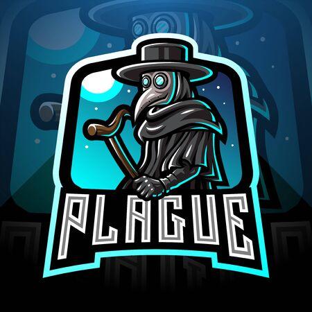 Plague doctor esport mascot design