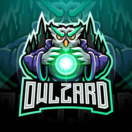 Owl wizard esport mascot logo Logo